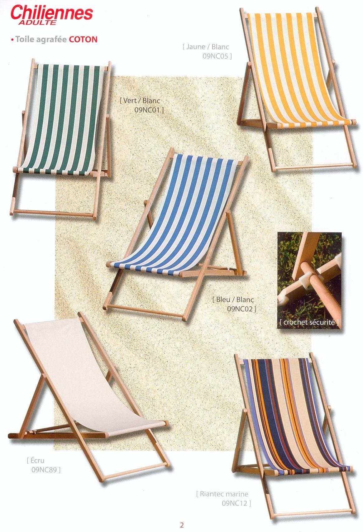 Transats bains de soleil et chaises longues for Chaise longue en toile